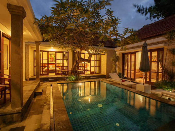 Bali Sanur beach villas complex for rent